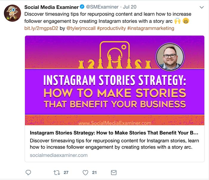 Tweet by Social Media Examiner - How to use the Best Social Media Hashtags on Every Platform (and not mess it up)