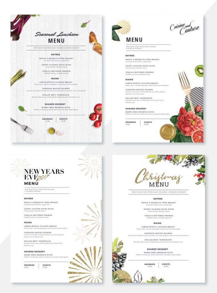 Easil's Summer Menu Selection - Create Menus with Easil's Menu Maker: Why You Need to Kiss your Designer Goodbye
