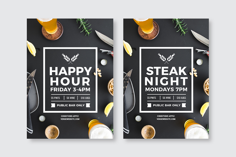 Changing just one element on a design template - How to Use DIY Graphic Design Templates like a Pro