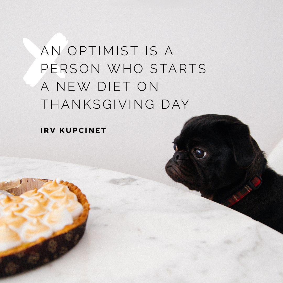 Optimist Quote by Easil - Thanksgiving Images and Ideas for Social Media (Seasonal Marketing Series)