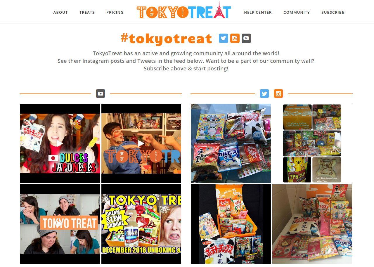 Tokyo Treat community page