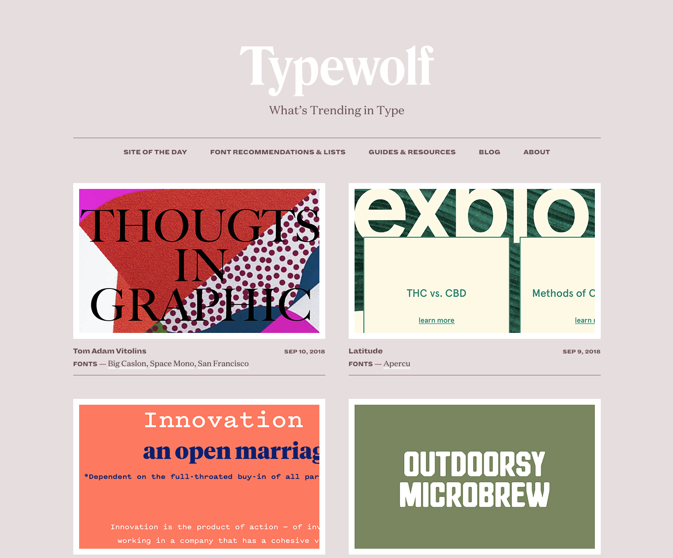 Typewolf Website -67 Awesome Visual Design Tools to Create Stunning Visual Content
