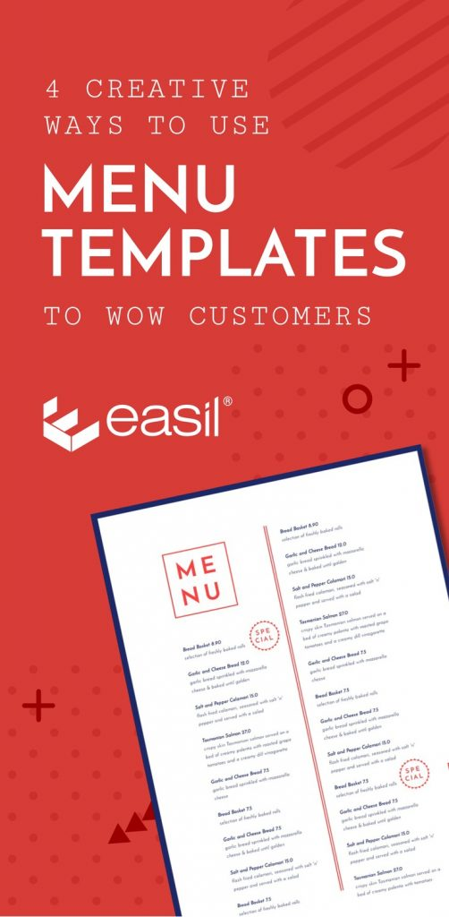 Creative Ways To Use Seasonal Menu Templates To Wow Customers Easil - Creative menu design templates