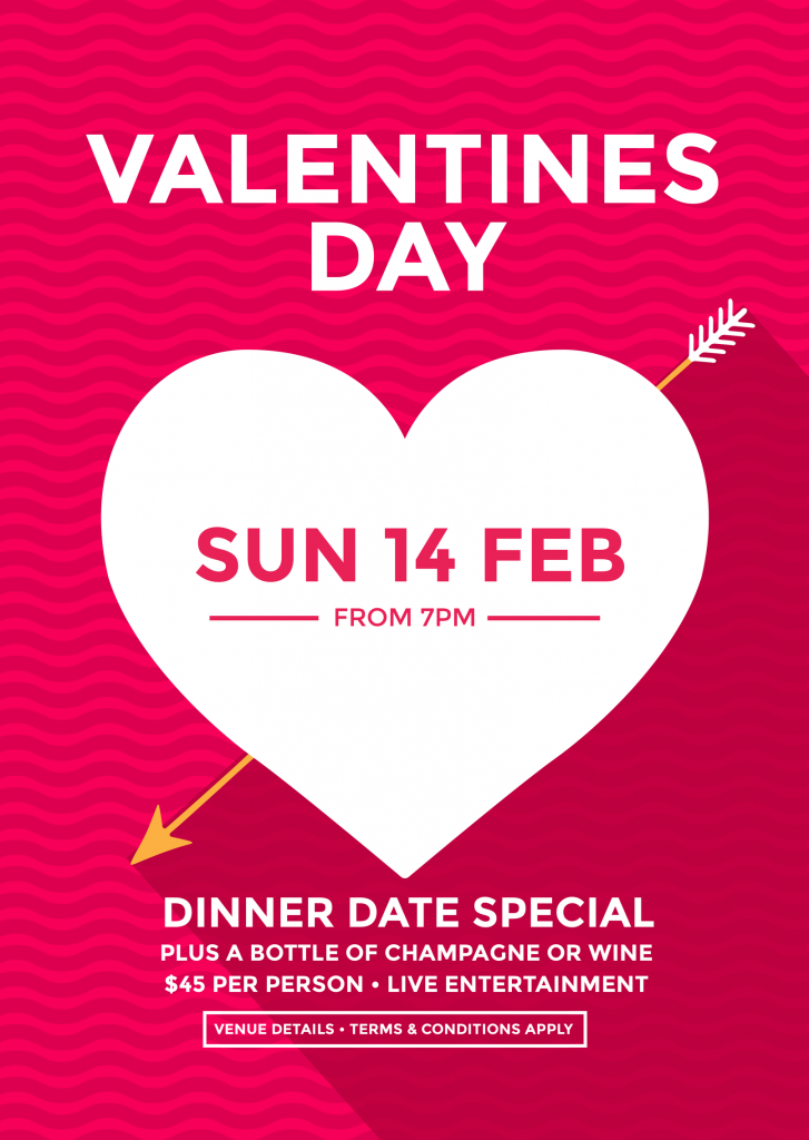 Valentine's Day Poster template with heart and wavy lines background
