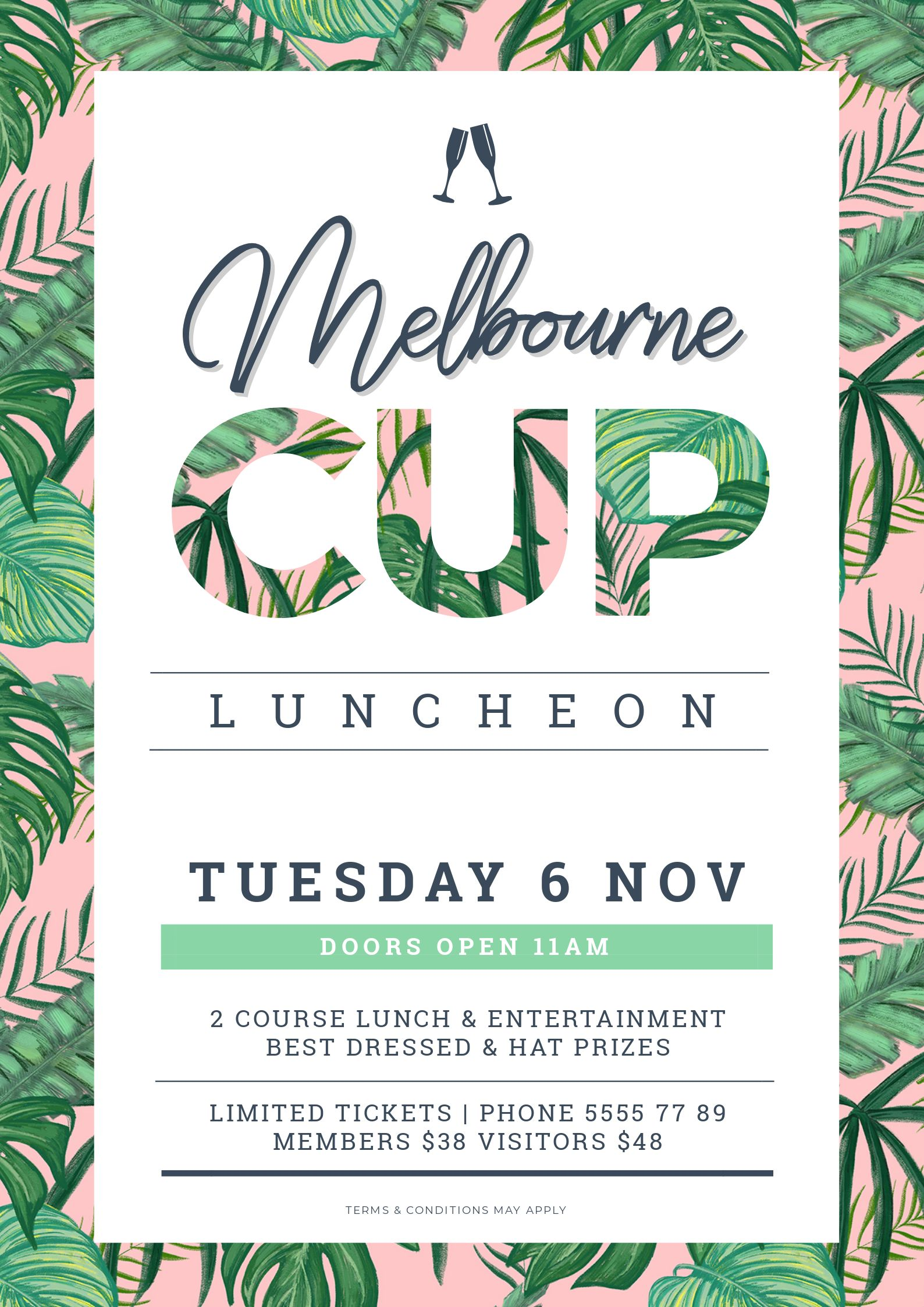 Melbourne Cup Poster Design using Text Mask (Image in Text) style. Image in Text Poster Designs 10 Ways - Hack Your Visual Design Series