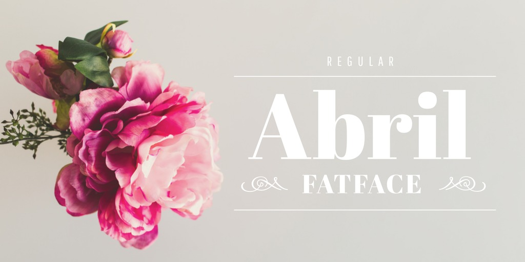 Ultimate Font Pairing Guide - Abril Fatface Font