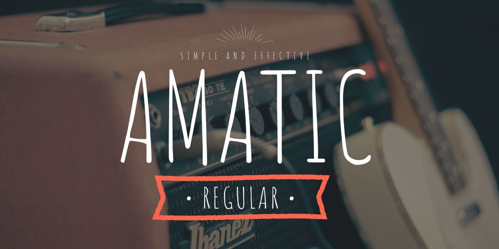 Ultimate Font Pairing Guide - Amatic Font
