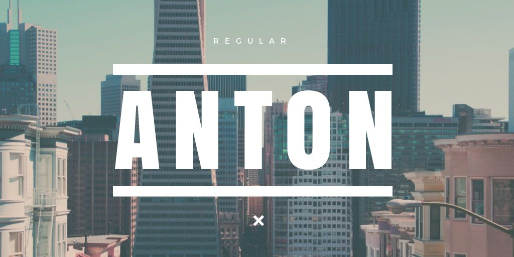 Ultimate Font Pairing Guide - Anton Font