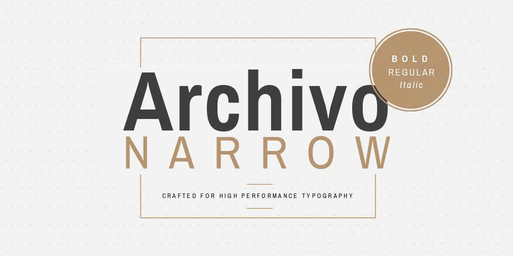 Ultimate Font Pairing Guide - Archivo Narrow Font