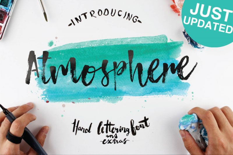 Atmosphere Hand Lettering Font - 73 Best Free Fonts to Create Stunning Designs in 2018