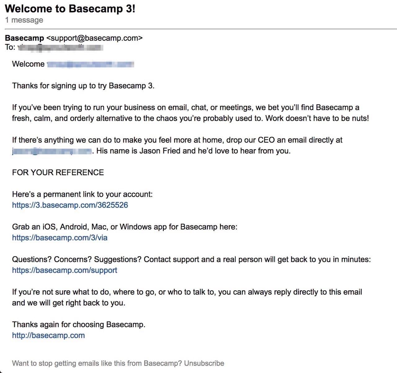 basecamp email