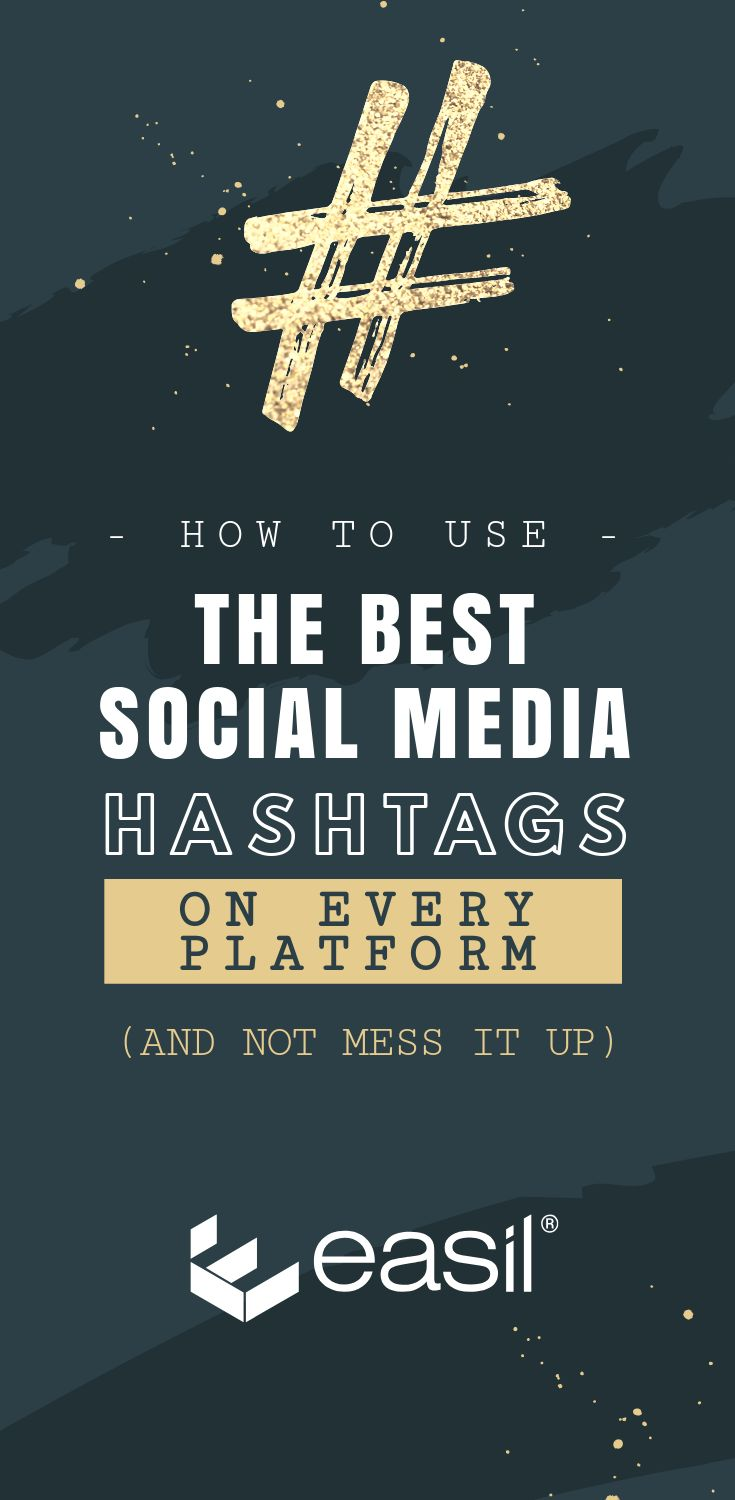 Hashtag Infographic: How to use the Best Social Media Hashtags on Every Platform (and not mess it up)