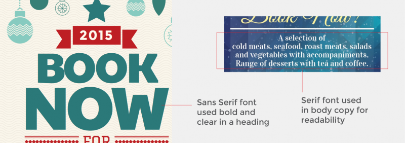 Learn about the differences between serif and sans serif fonts