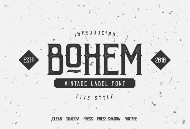 Bohem Vintage Label Font - 73 Best Free Fonts to Create Stunning Designs in 2018