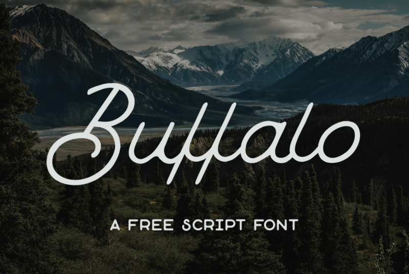 Buffalo Free Script Font - 73 Best Free Fonts to Create Stunning Designs in 2018