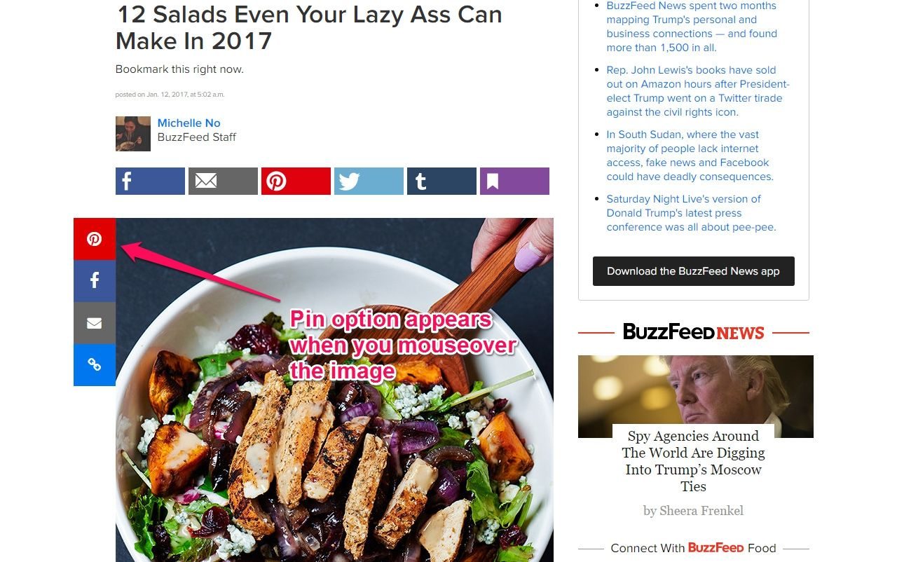 buzzfeed recipe with pinnable image