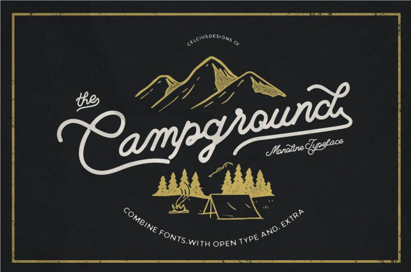 Campground Font - 73 Best Free Fonts to Create Stunning Designs in 2018