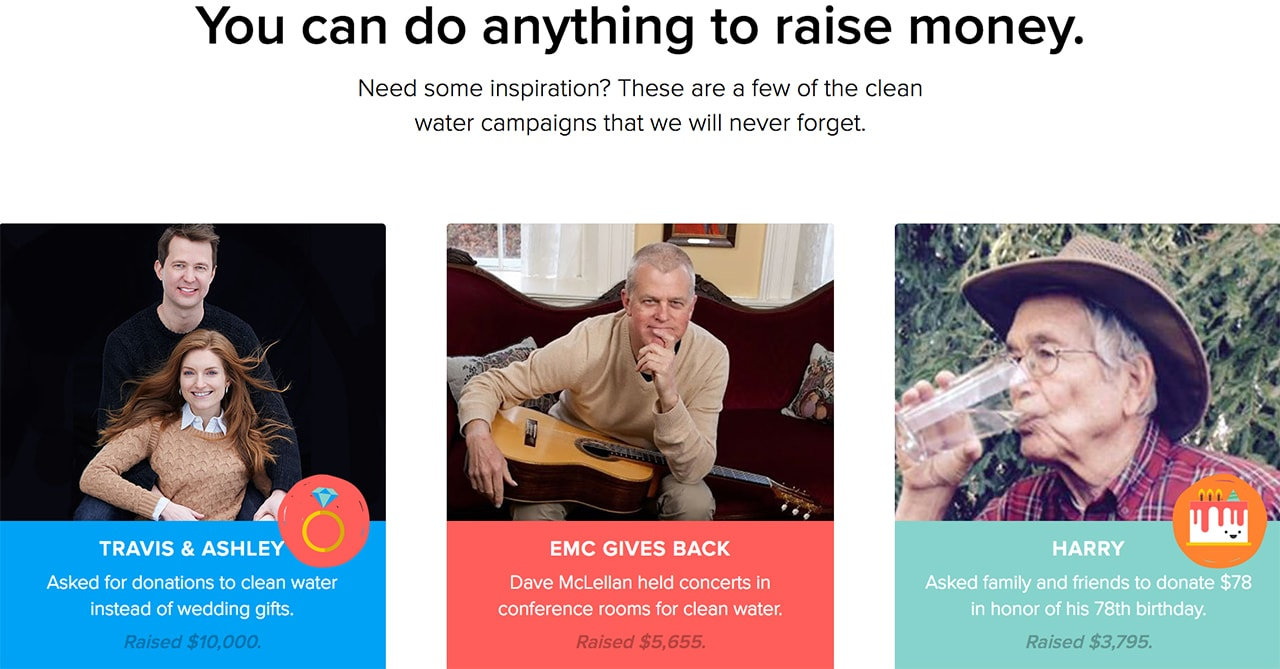 charity water - storytelling