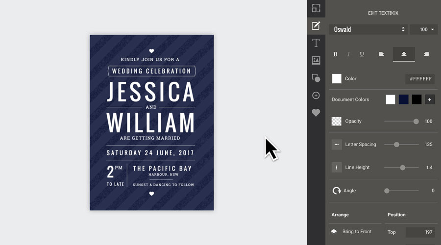 Flyer templates for your home such as invitations can be edited with Easil's online tools