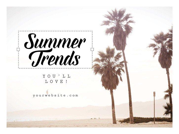 Summer Trends Editable template in Easil