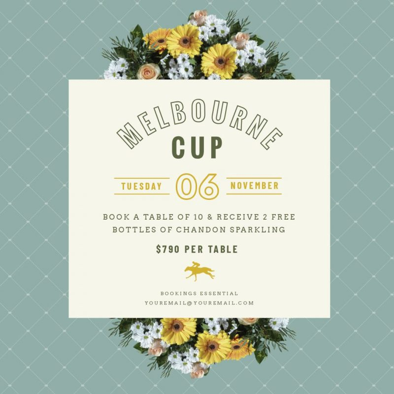 Melbourne Cup Luncheon design by Easil - How to run a Successful Melbourne Cup Promotion without a Designer