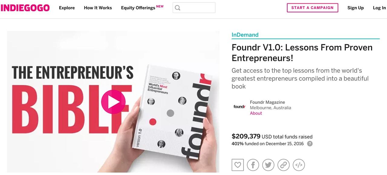 foundr indiegogo campaign