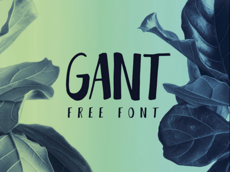 Gant Free Font - 73 Best Free Fonts to Create Stunning Designs
