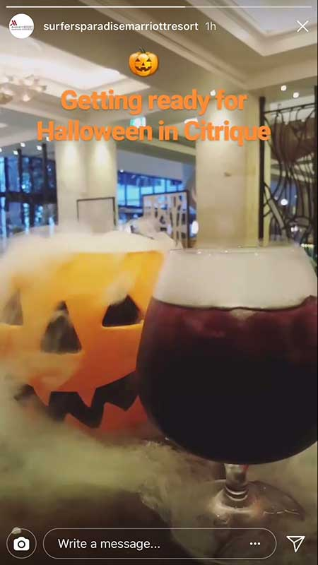 Getting Ready for Halloween and Party Season -8 Easy Ways to use Instagram Stories for Hotels or Venues