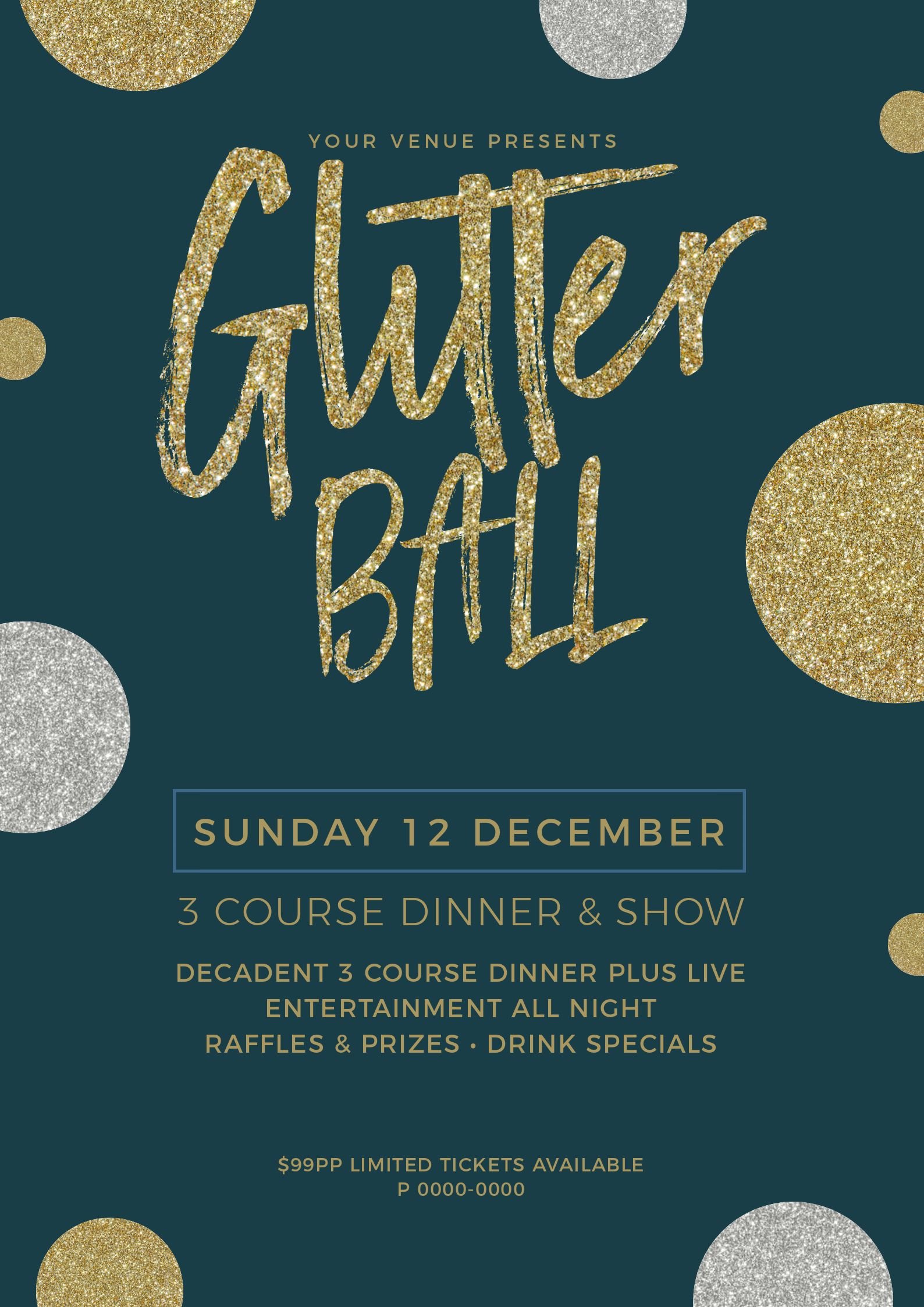 Glitter Ball Poster using Text Masking - 7 Beautiful Text Masks - How to WOW with Images in Text