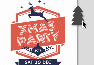 Use graphic elements to customize your Christmas flyer template