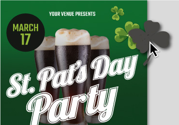St Patrick's Day Flyer Templates - Party example