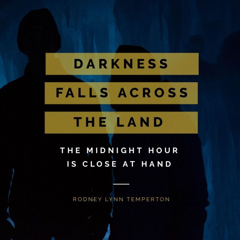 Darkness Falls Across the Land - Thriller Halloween Quote by Easil - 22 Halloween Quotes for Spooky Social Media Posts