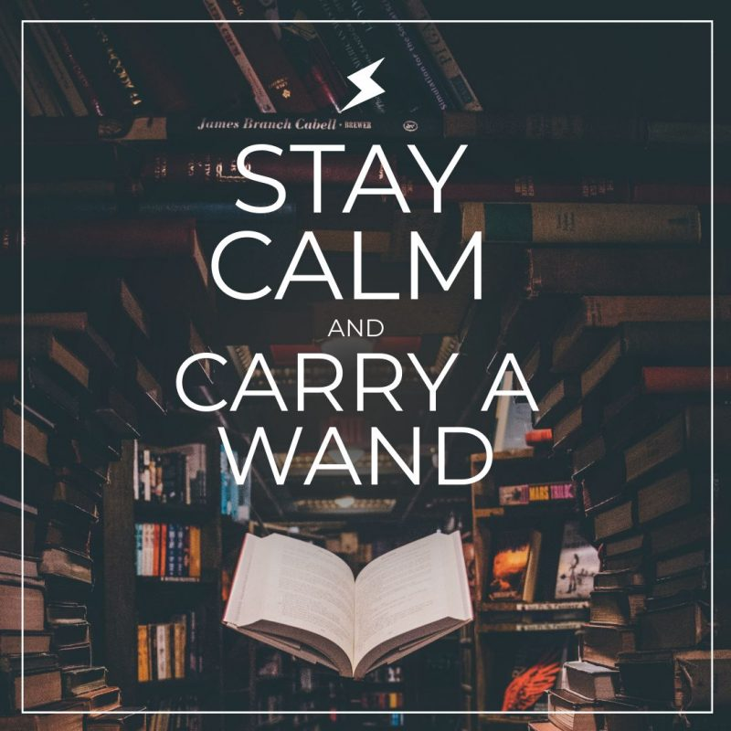 Stay Calm and Carry a Wand Halloween Quote by Easil - 22 Halloween Quotes for Spooky Social Media Posts