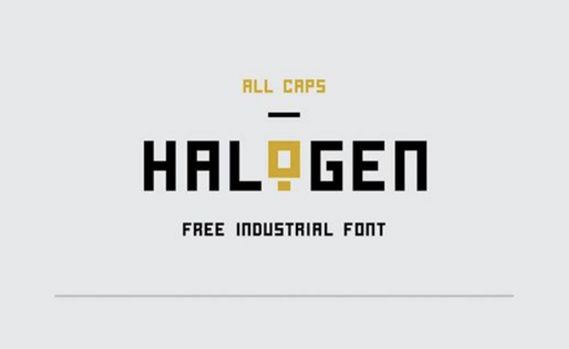Halogen Free Font - 73 Best Free Fonts to Create Stunning Designs