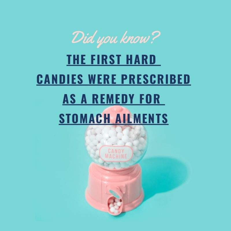 Hard Candy Fun Fact Image by Easil - December Content Calendar Ideas + Templates