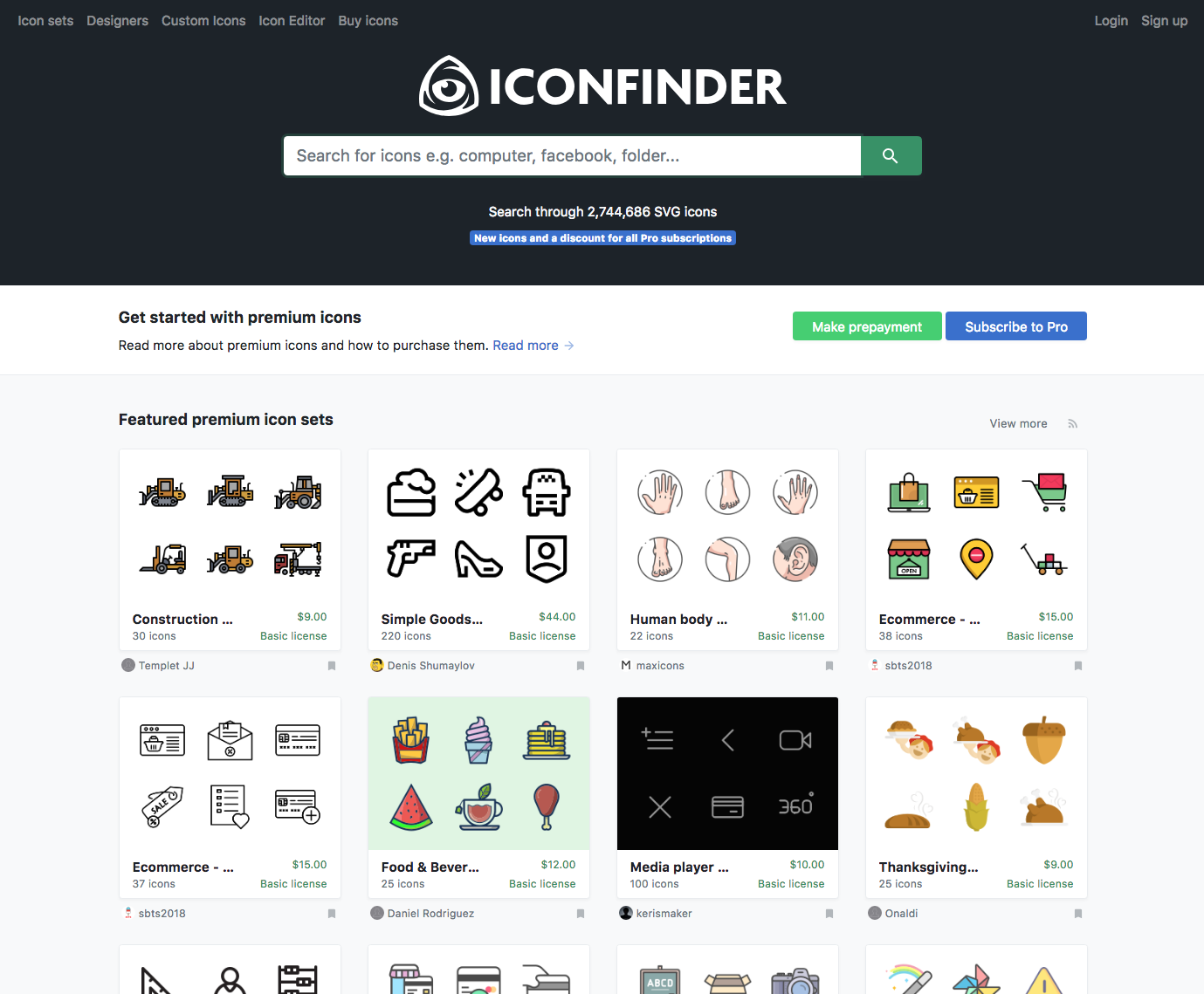 Icon Finder Website - 67 Awesome Visual Design Tools to Create Stunning Visual Content