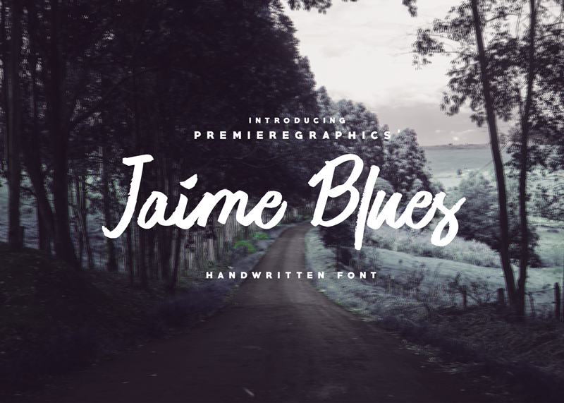 Jaime Blues Handwritten Font - 73 Best Free Fonts to Create Stunning Designs in 2018