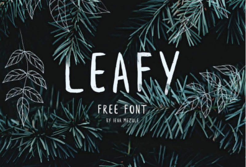 Leafy Free Font - 73 Best Free Fonts to Create Stunning Designs in 2018