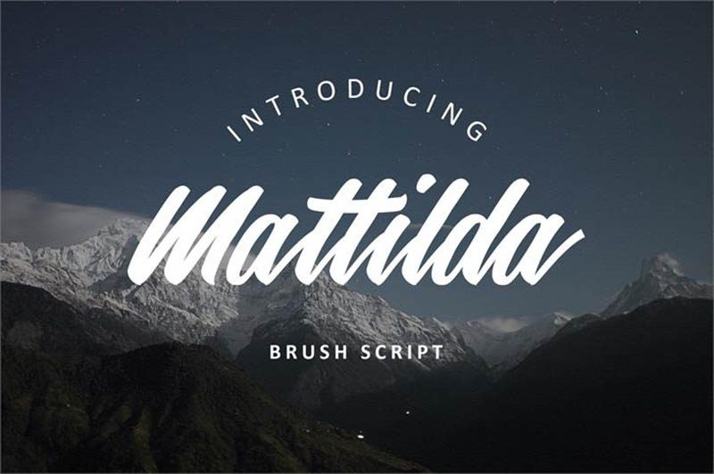 Mattilda Font - 73 Best Free Fonts to Create Stunning Designs