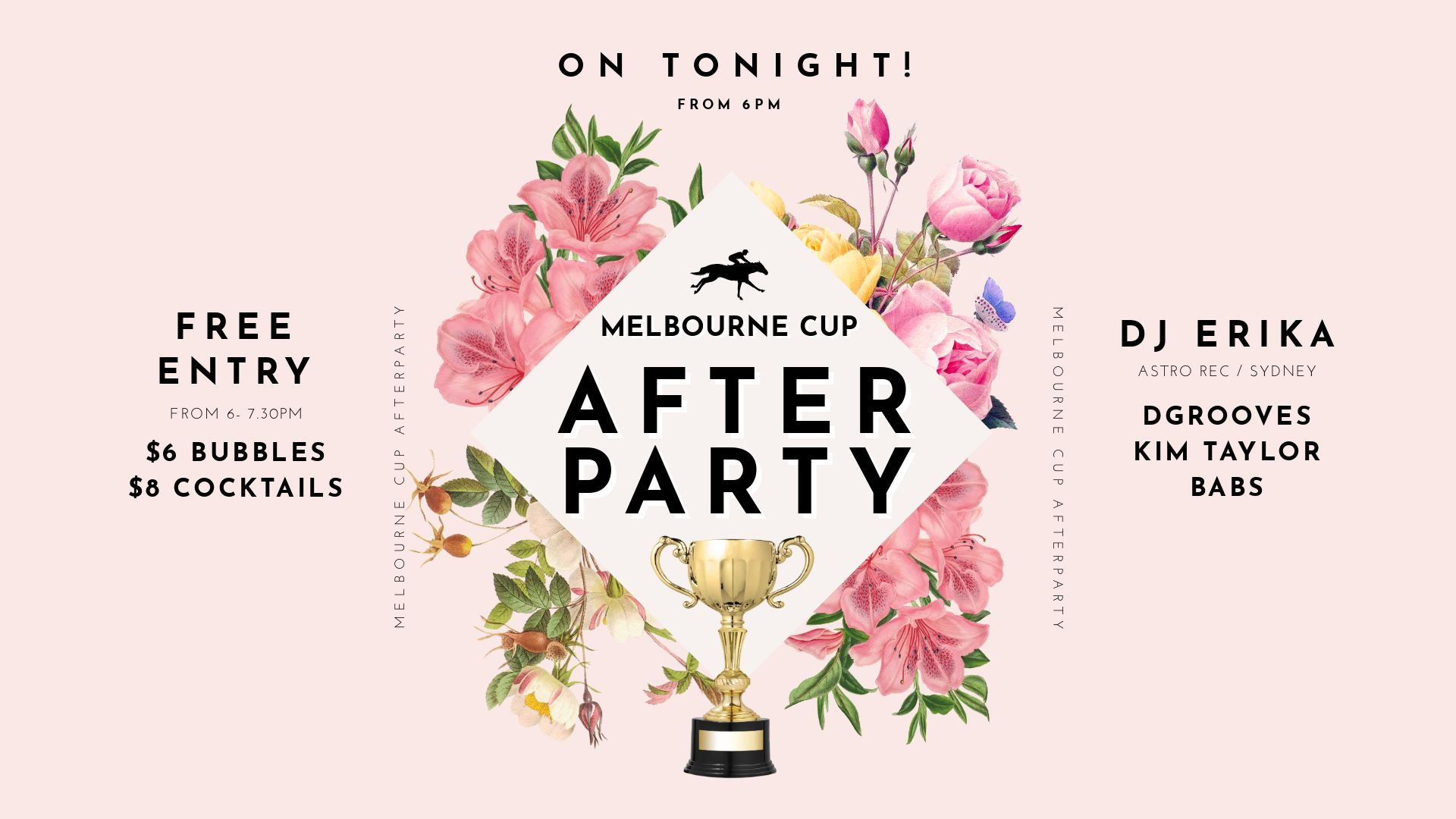 Melbourne Cup After Party Design by Easil - How to run a Successful Melbourne Cup Promotion without a Designer