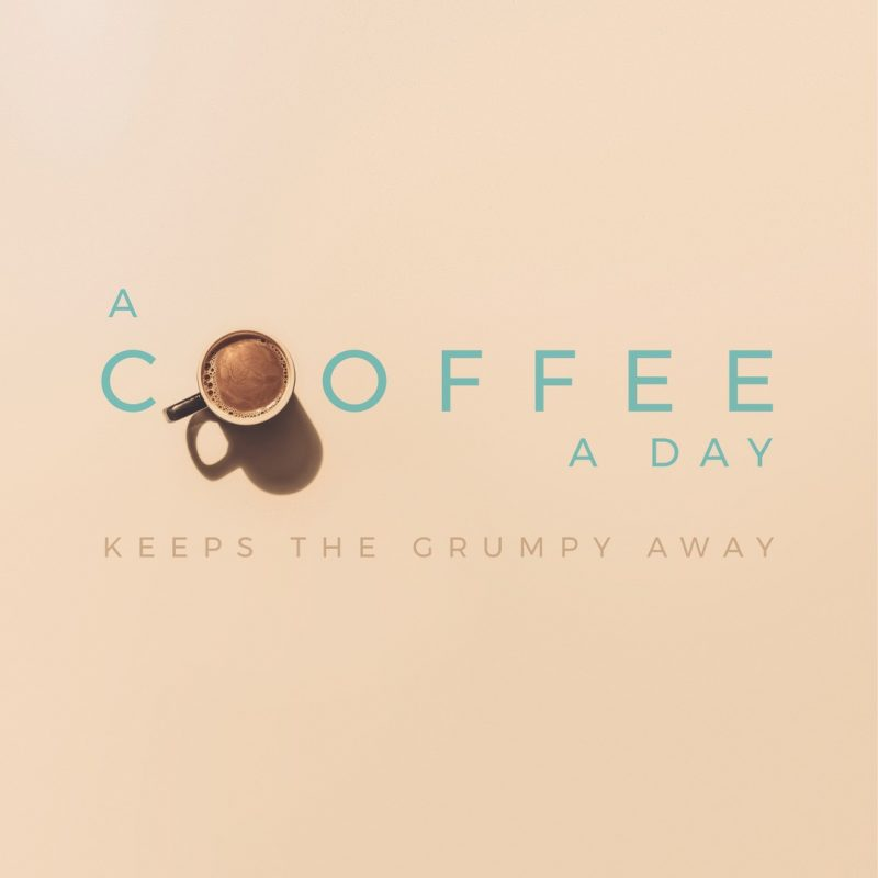 A Coffee A Day - Power Up Your Social Media Images by adding text to your graphics