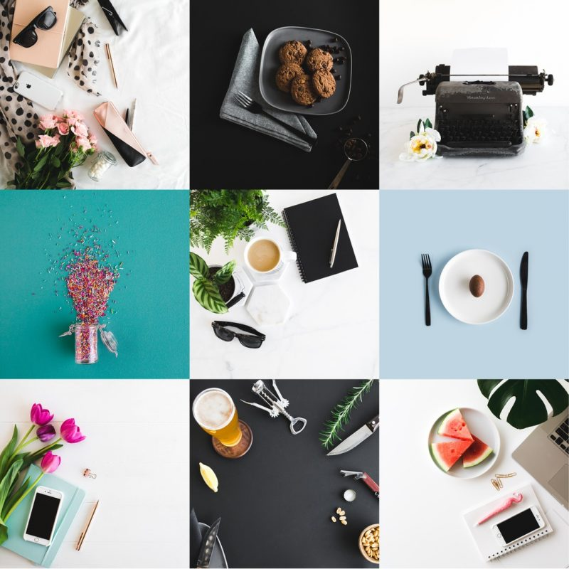 Power up your social media images with high quality stock photography such as these Easilstock flatlay images