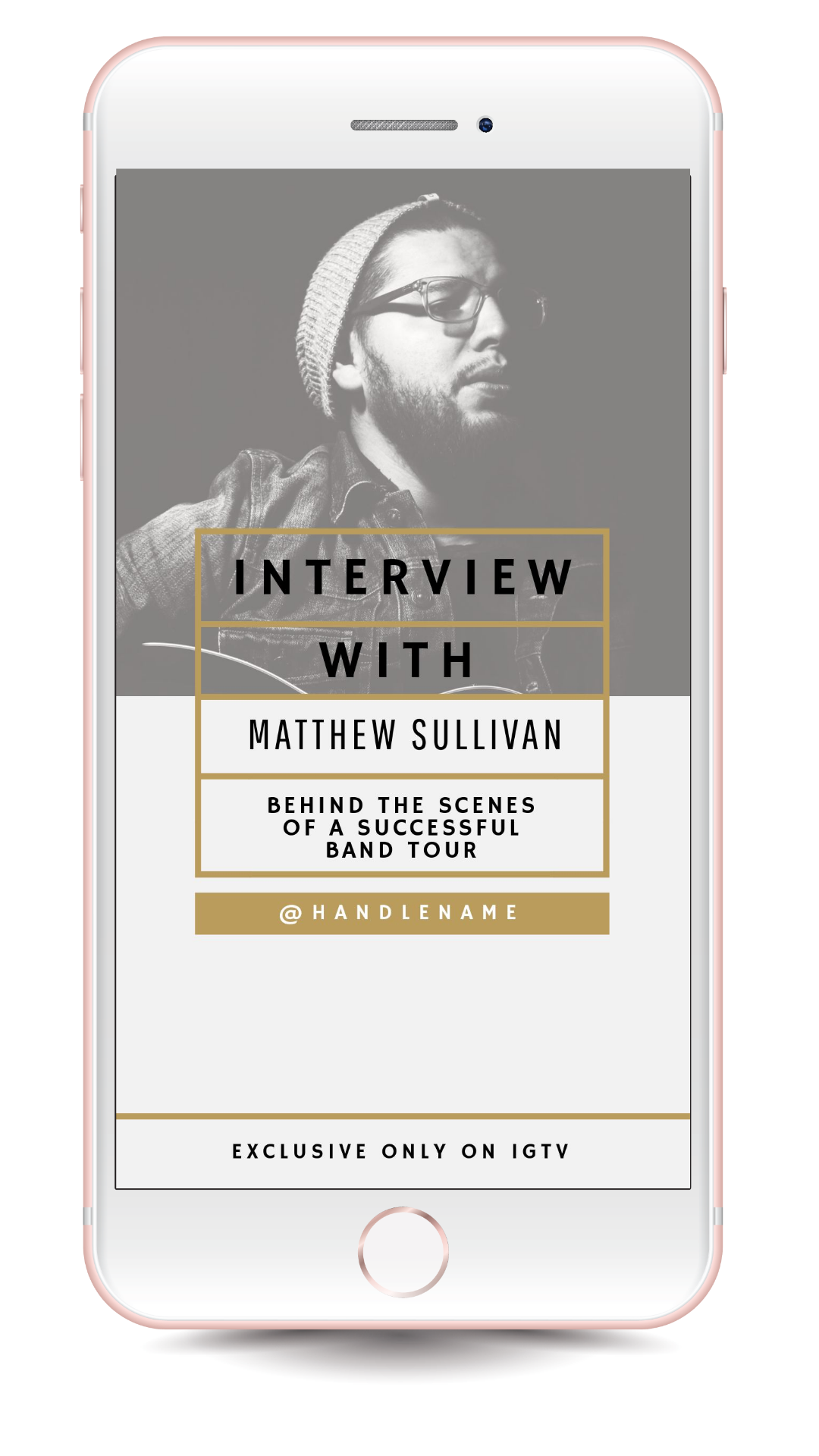 Interview Series IGTV Cover Template - 17 Stunning IGTV Templates for your Instagram TV Channel