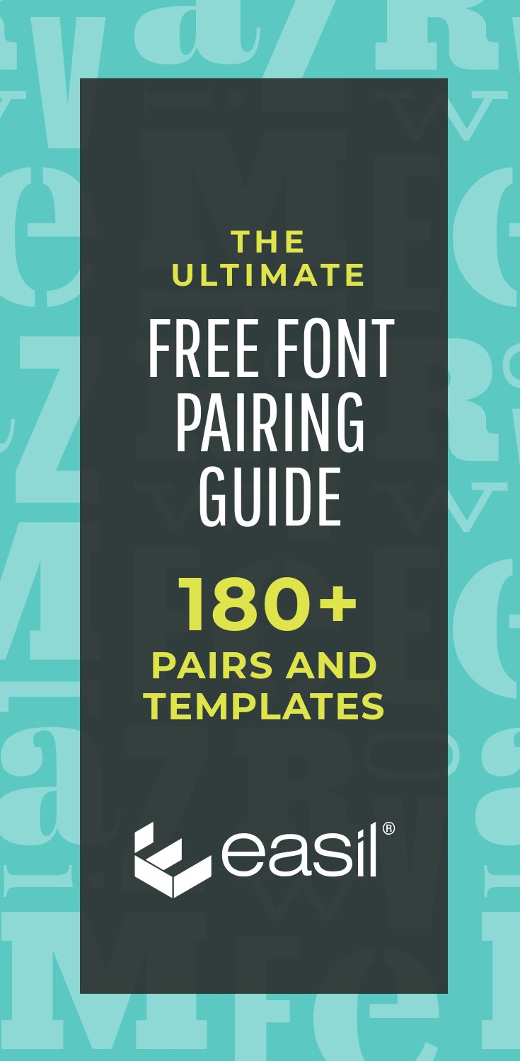 The Ultimate Free Font Pairing Guide - 180+ Examples (Plus Templates)