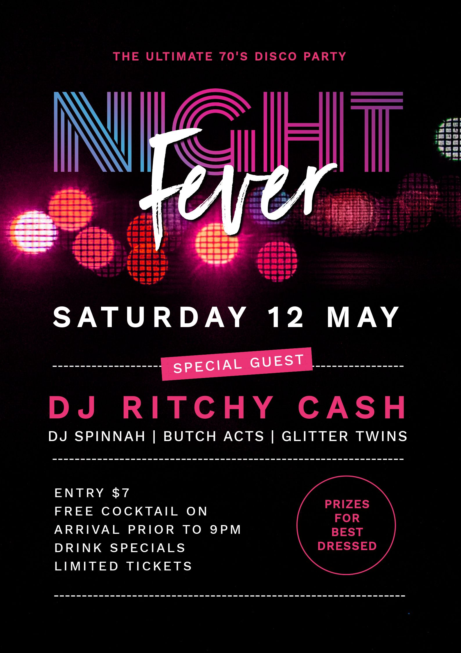 Stunning gradient image in text effect - Night Fever Poster (DJ Event Poster) using Text Masking - 7 Beautiful Text Masks - How to WOW with Images in Text