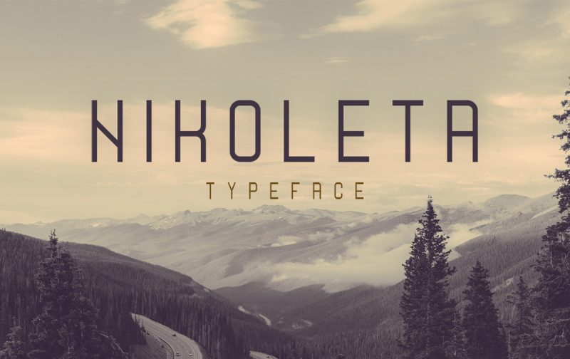 Niloleta Typeface - 73 Best Free Fonts to Create Stunning Designs in 2018