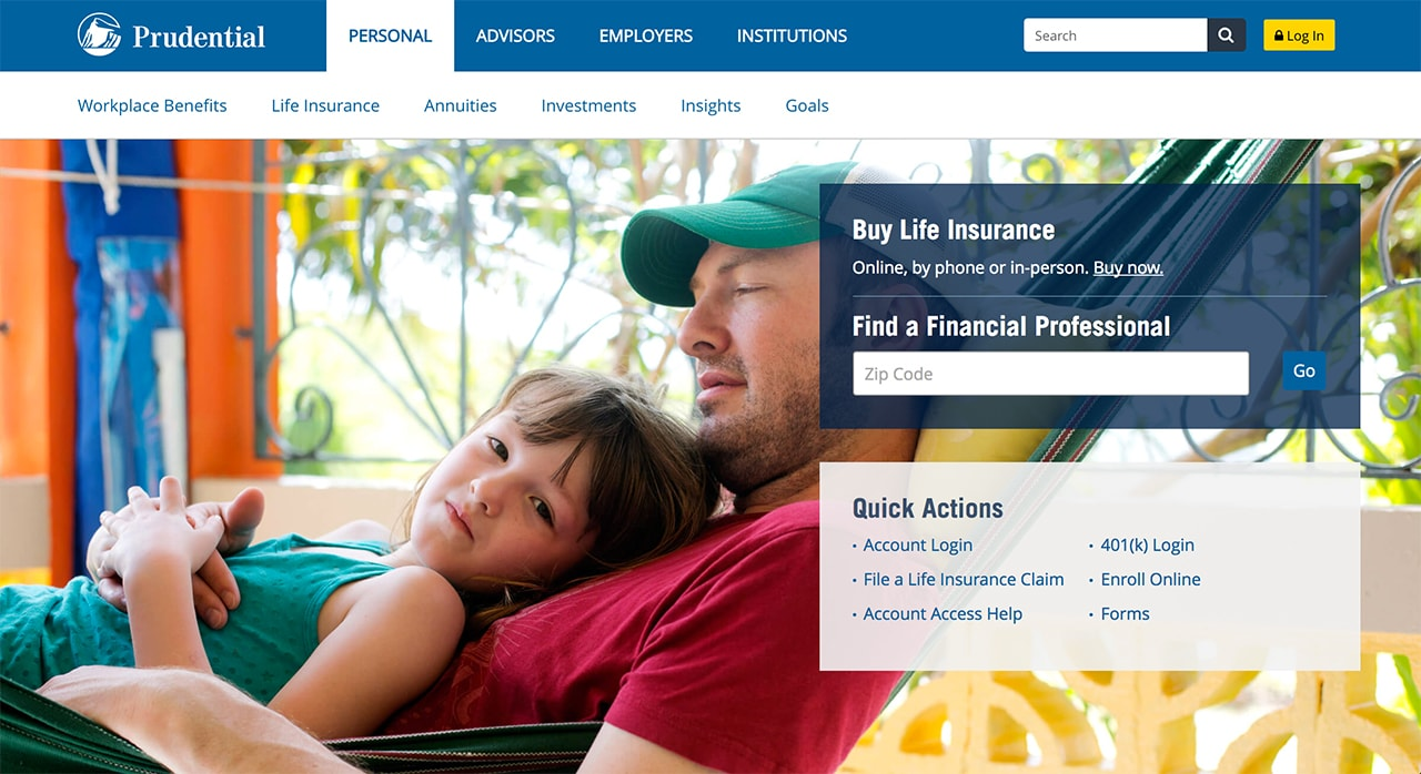 prudential insurance website