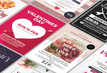 valentine's day flyers and scatter templates - Valentine's Day Flyers