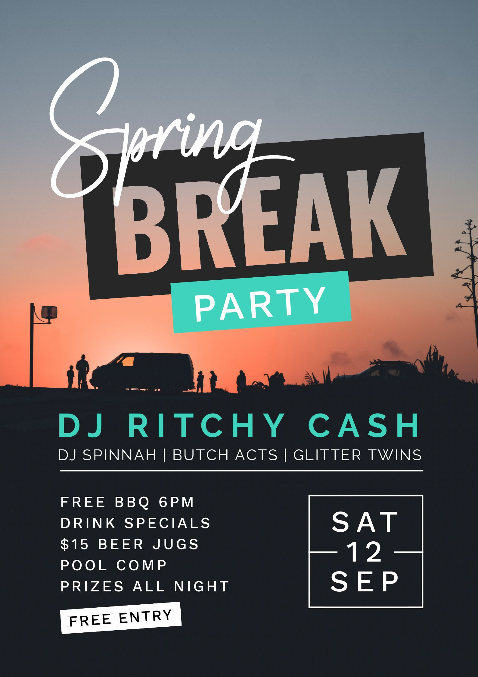 Spring Break Beach Party Poster using Text Masking - 7 Beautiful Text Masks - How to WOW with Images in Text