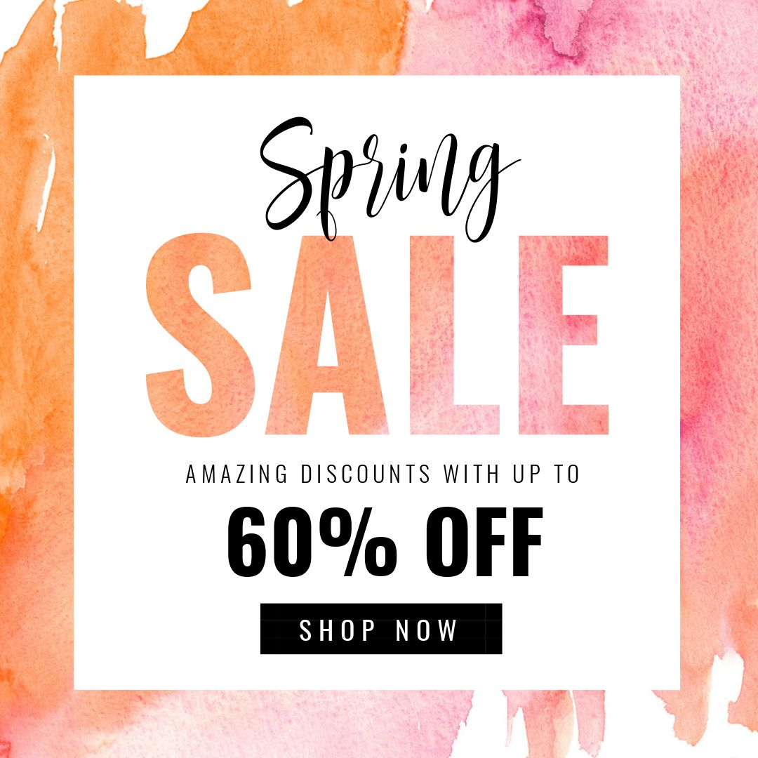 Spring Sale Poster - 7 Beautiful Text Masks - How to WOW with Images in Text